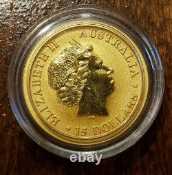 Australia 2018 Wedge Tailed Eagle 1/10 Oz. 999 Gold $15 Coin
