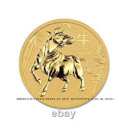 Australia 2021 Gold $100 Year of the Ox Brilliant Uncirculated 1 oz. 9999 coin