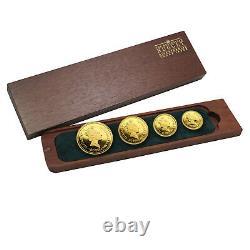 Australia 4-Coin Gold Nugget Proof Set (Random Year) 1.85 ozt SKU#213935
