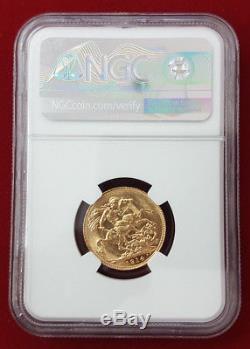 Australia George V gold Sovereign 1914 P Perth NGC MS61