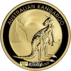 Australia Gold Kangaroo 1 oz $100 BU Random Date