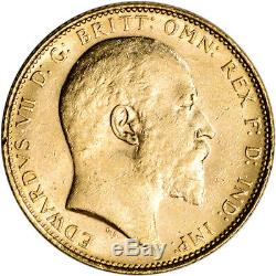 Australia Gold Melbourne M Sovereign. 2354 oz Edward VII XF-AU Random Date