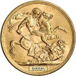 Australia Gold Melbourne M Sovereign. 2354 oz George V BU Random Date