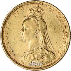 Australia Gold Melbourne M Sovereign. 2354 oz Victoria Jubilee XF AU Random Date