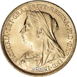 Australia Gold Melbourne M Sovereign. 2354 oz Victoria Matron BU Random Date