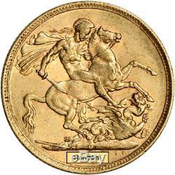 Australia Gold Melbourne M Sovereign. 2354 oz Victoria Matron XF/AU Random Date