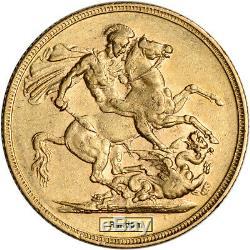 Australia Gold Melbourne M Sovereign. 2354 oz Victoria Young XF AU Random Date