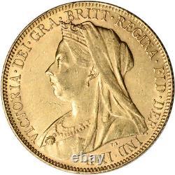 Australia Gold Perth P Sovereign. 2354 oz Victoria Matron XF/AU Random Date