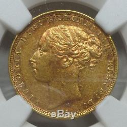 Australia Gold Sovereign 1879-M AU 55 NGC