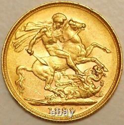 Australia Gold Sovereign 1899 P Perth mint Victoria KM# 13 (H+032)