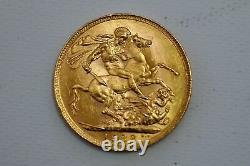 Australia Gold Sovereign 1922 George V Perth Mint KM# 29 (R202-L)