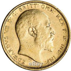Australia Gold Sydney S Sovereign. 2354 oz Edward VII XF-AU Random Date