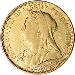 Australia Gold Sydney S Sovereign. 2354 oz Victoria Matron XF/AU Random Date