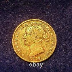 Australia Sydney Mint 1/2 Half Sovereign 1862 Gold Coin Vg Condition Km#3