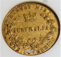 Australia Victoria gold Sovereign 1855-SYDNEY VF20 NGC. RARE