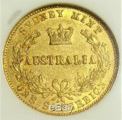 Australia Victoria gold Sovereign 1870-SYDNEY AU53 NGC