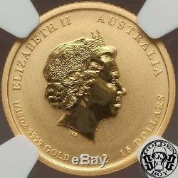 Australia gold 15 Dollars 1/10 oz. 2012-P QEII. NGC MS69