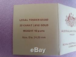 Australian 1983 gold proof coin Koala