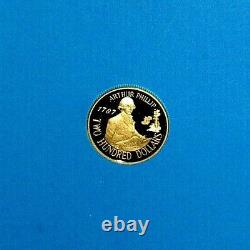 Australian 1987 Proof 200 Dollar Gold Coin Arthur Phillip Issued By R A M Nice