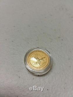 Australian 1/10 Of An Ounce Gold Coin. 9999 24K $15.00 Face Value. Gem