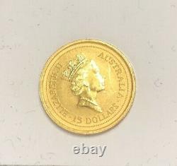 Australian 1/10 Oz Gold 15 Dollars The Australian Nugget 1994 Collectors item