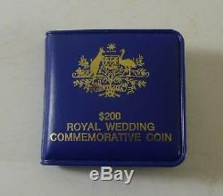 Australian $200,'Commemorating Royal Wedding', 22-carat Proof Gold Coin, c. 1981