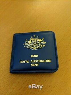 Australian $200 Royal Mint Coin 1980 Koala 22 Carat Gold UNC