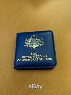 Australian $200 Royal Wedding Commemorative Coin 1981 Diana 22 Carat Gold UNC