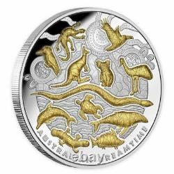 Australian Dreamtime 2019 $10 Gold-Plated 5oz Silver Proof Coin