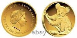 Australian Koala 2009 Gold Proof Coin 1oz High Relief