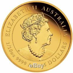 Australian Lunar Series III 2020 Year of the Mouse Gold Proof 1/10 oz Coin