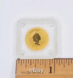 Australian Nugget 1/10 oz. 9999 Gold Coin 1992 Wallaroo Kangaroo Uncirculated