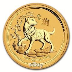 Australian Perth MInt Series II Lunar Gold Half Ounce 2018 Dog