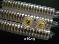 Australian Perth Mint $5 Lunar 1998 Year Of The Tiger 1/20 oz. 999 Gold Series 1