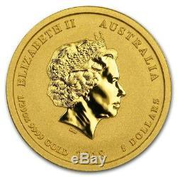 Australian Perth Mint Series II Lunar Gold One-Twentieth Ounce 2018 Dog