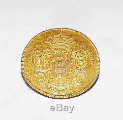 Australian Proclamation Portugal 1796R GOLD Coin Half Joanna 6400 Reis Top Grade