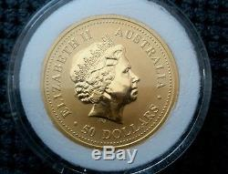 Australian nugget kangaroo 1/2 oz gold coin $50.00 with liberty bell privy