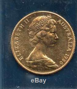 Australian uncirculatedd $200 gold coin. 1980