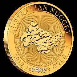 Australien 100 Dollar 2019 Australian Nugget Anlagemünze 1 Oz Gold ST