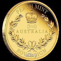 Australien 25 Dollar 2019 Australian Sovereign 200. Geb. Königin Victoria Gold PP
