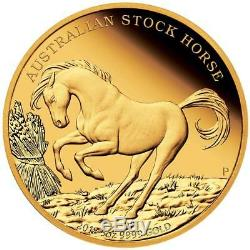 Australien 500 Dollar 2018 Australian Stock Horse Finale Ausgabe 5 Oz Gold PP