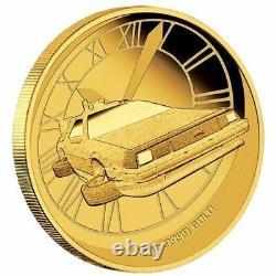 BACK TO THE FUTURE 2015 1/4oz Gold Proof Perth Mint Coin DeLorean