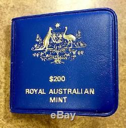 BJSTAMPS 1983 $200 Two Hundred Gold Koala Royal Australian Mint BU. 2943 oz