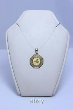 Beautiful 14K Pendant with 2001 Australian 1/20oz 999 Fine Gold Coin 1.25-12963