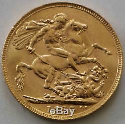 Gold Sovereign Australia P 1917 Brilliant Unc