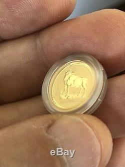 Gold 1997 Australia Lunar Ox 1/20 Rarest Perth Mint Key Date