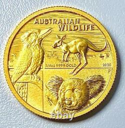 Gold Australian Wildlife Coin 1/4 Ounce
