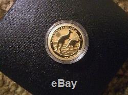 Gold Bullion Coin 1/4oz 9999 2018 Australian Kangaroo Perth Mint