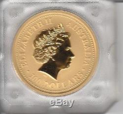 Gold coin 1 oz Australian Nugget 1999 Elizabeth II kangaroo uncirculated mint
