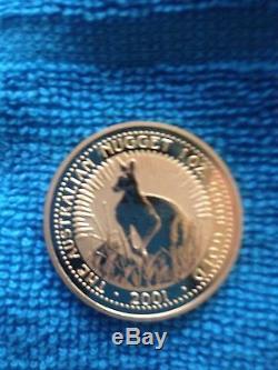 Gold coin 1 oz Australian Nugget 2001 Elizabeth II kangaroo uncirculated mint
